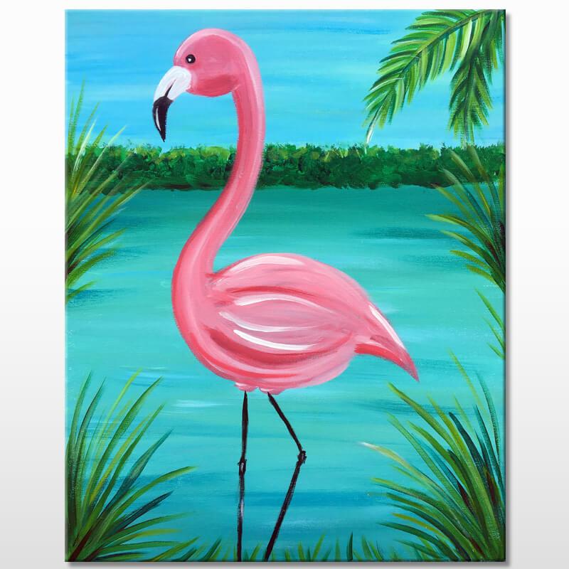 Flamingo Marsh Painting Event