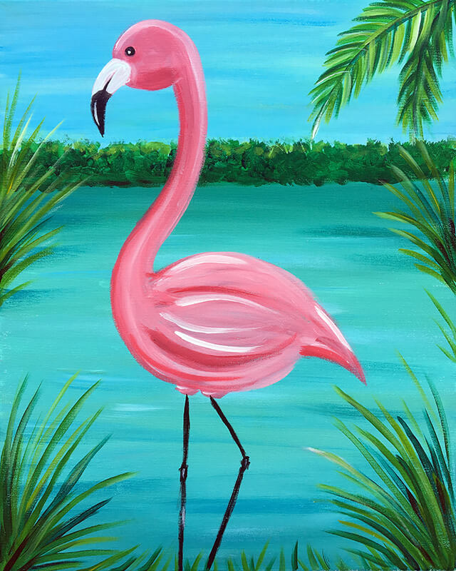 Flamingo Marsh Adult Painting Party