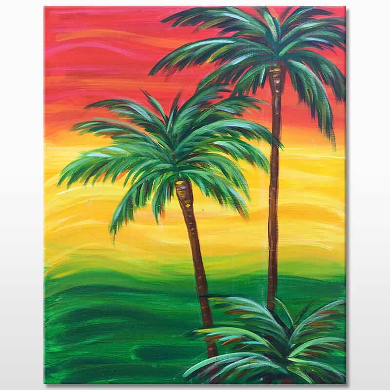 Rasta Palms Painting Event