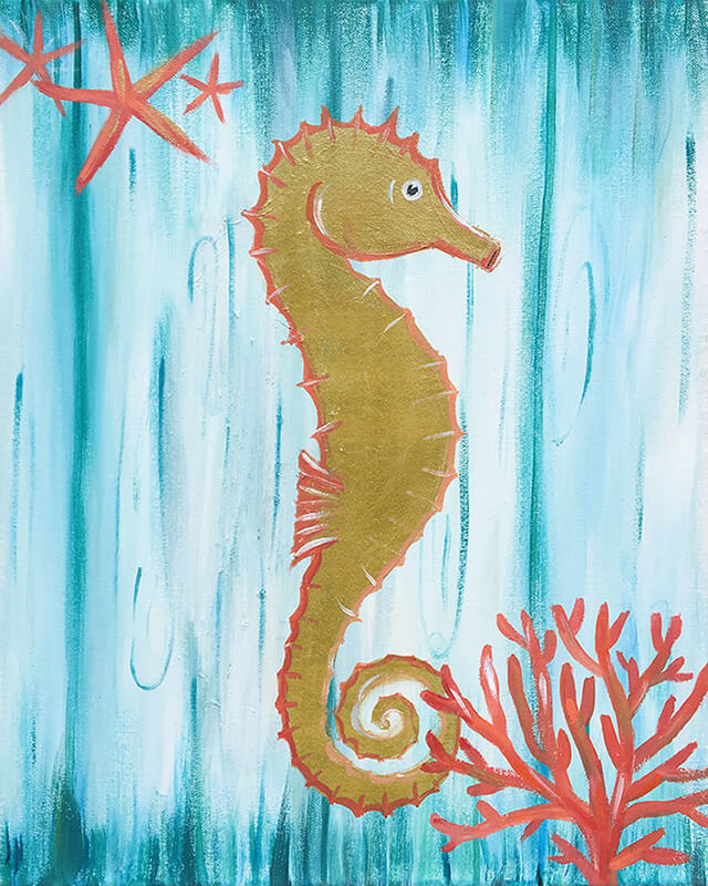 Seahorse Drift Painitng Party