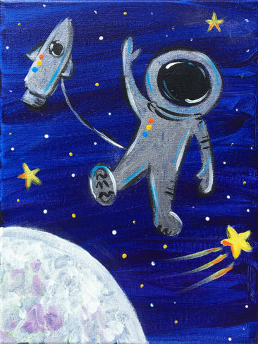 Space Walker Kids Painting Party