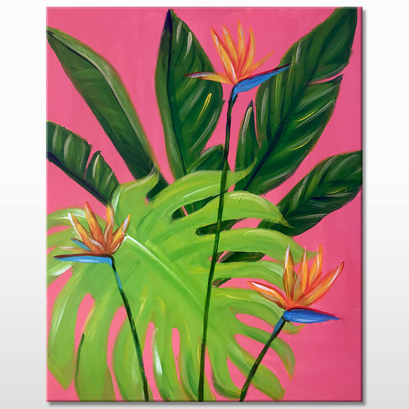 Tropical Bliss Painting Class