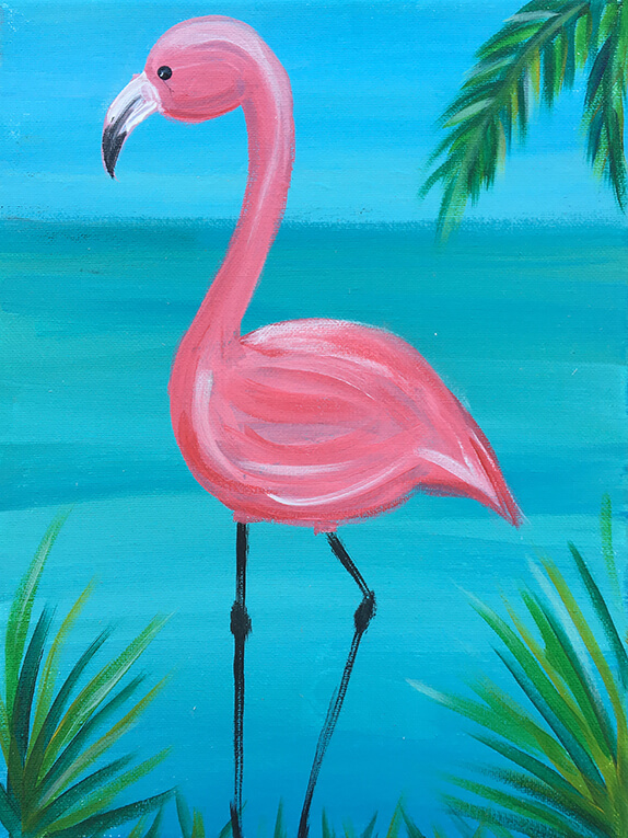 Tropical Flamingo Kids Painting Party