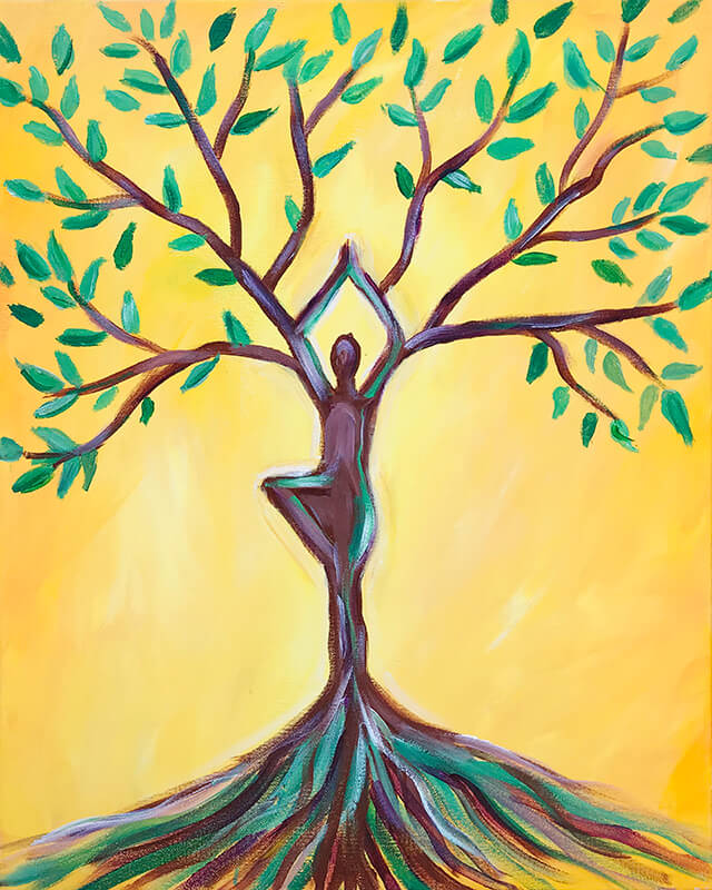 Growth - Tree Goddess Acrylic Painting