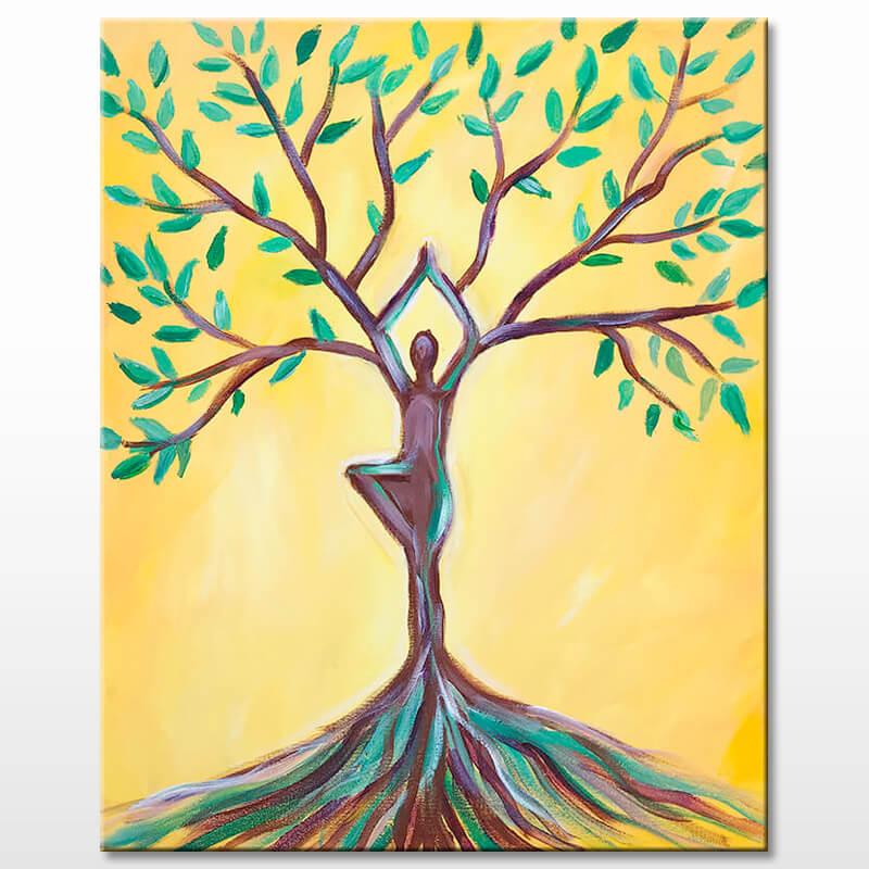 Growth Acrylic Painting Class