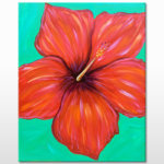 Hibiscus Rosa Painting Event