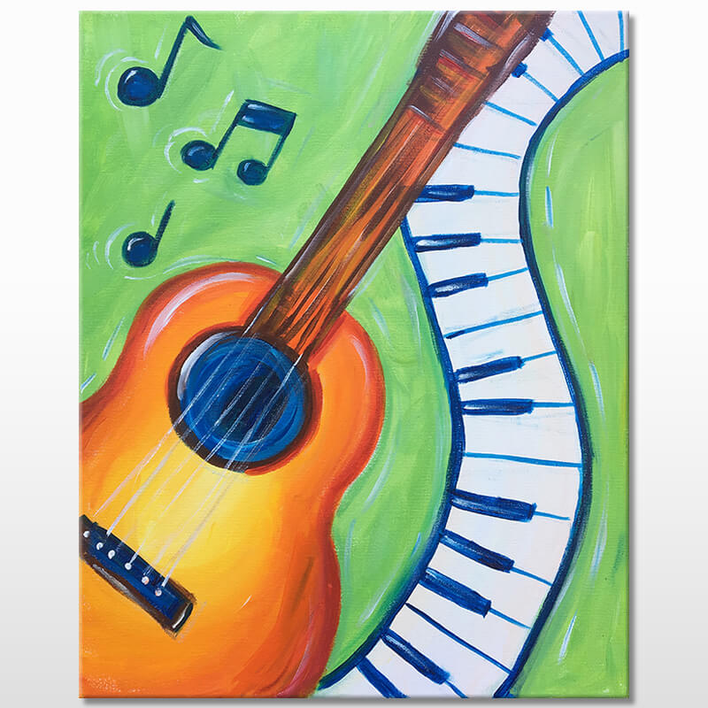 Music Lover Acrylic Painting