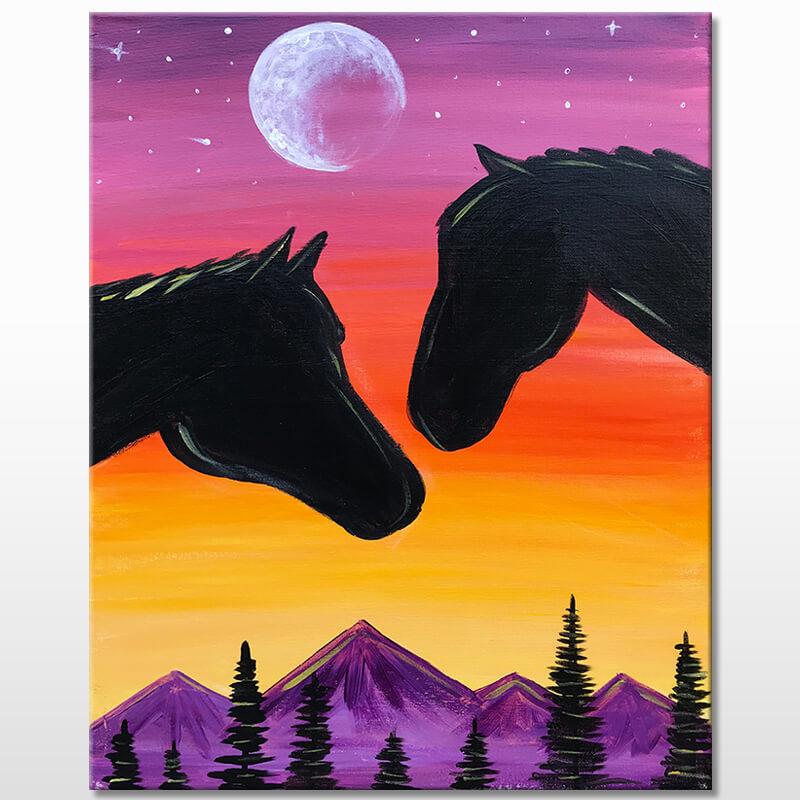 Spirit Riders Acrylic Painting Class