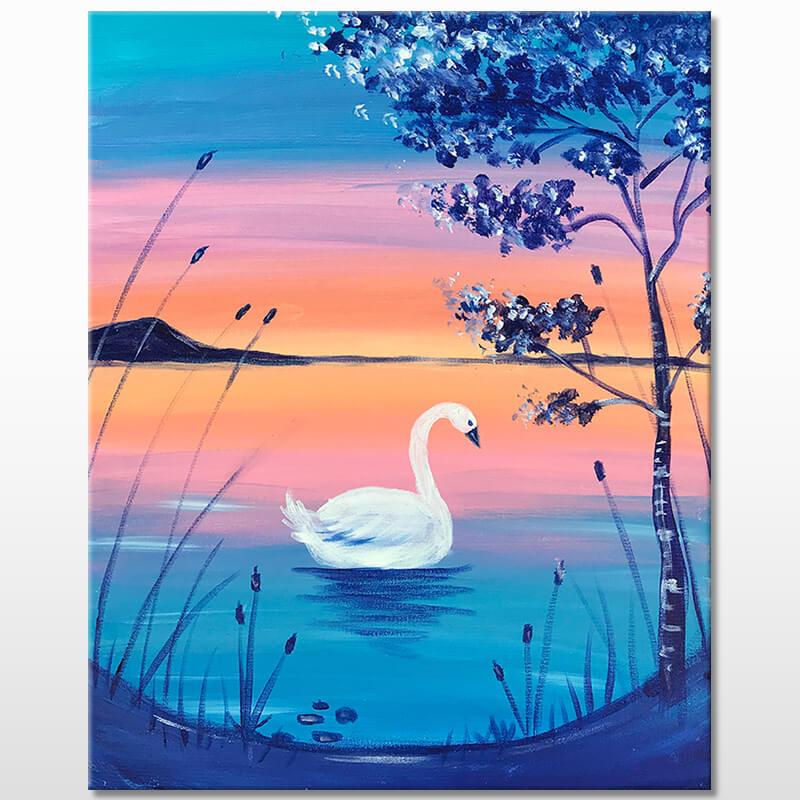 Swan Lake Acrylic Painting Class