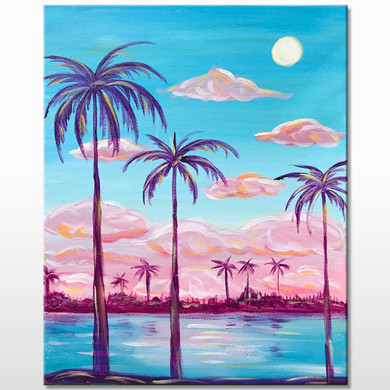 Cotton Candy Skies Painting Class