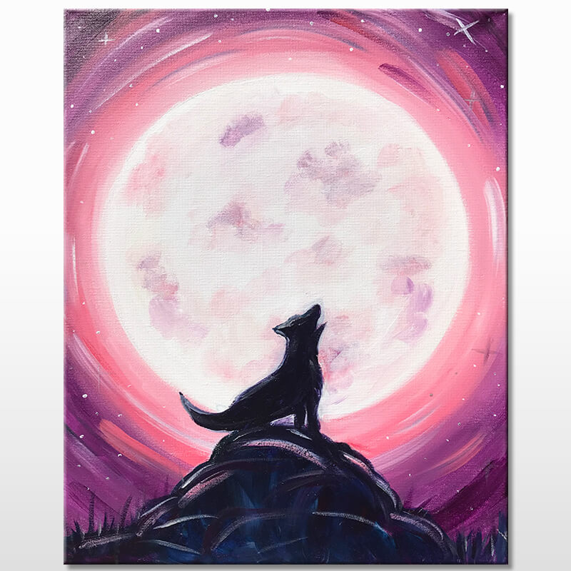 Howl At The Moon Acrylic Painting Class