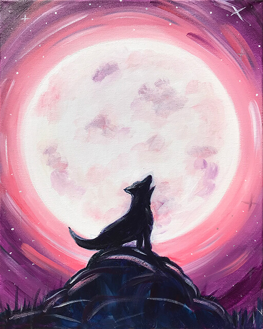 Howl At The Moon Painting Party