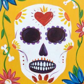 Sugar Skull Acrylic Painting Class