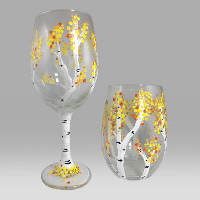 Birch Tree Wine Glasses