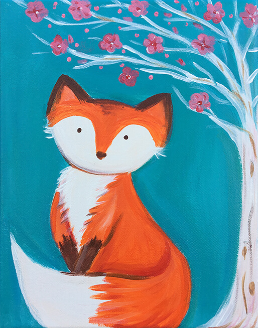 Foxy Blossom Kids Painting