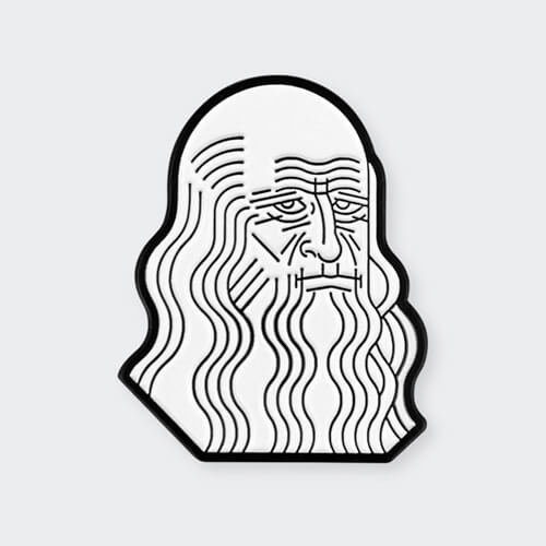 Icon - Leonardo Da Vinci Pin
