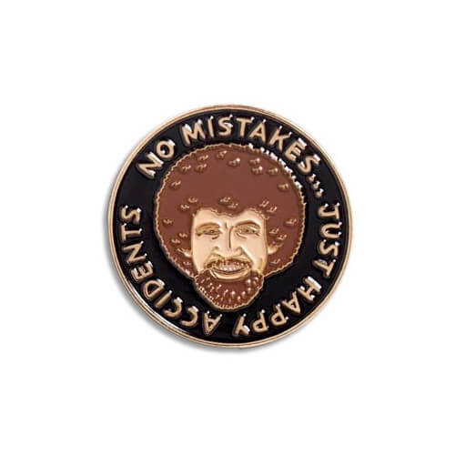 Bob Ross Enamel Pin