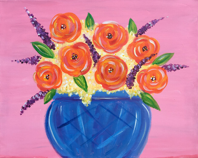 Roses Painting Party