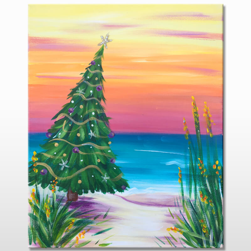 Christmas Vacation Virtual Painting Class