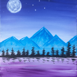 Dreamy Mountains Paint At Home Event