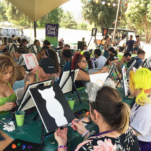 The Paint Sesh at Nocturnal Wonderland in San Bernardino