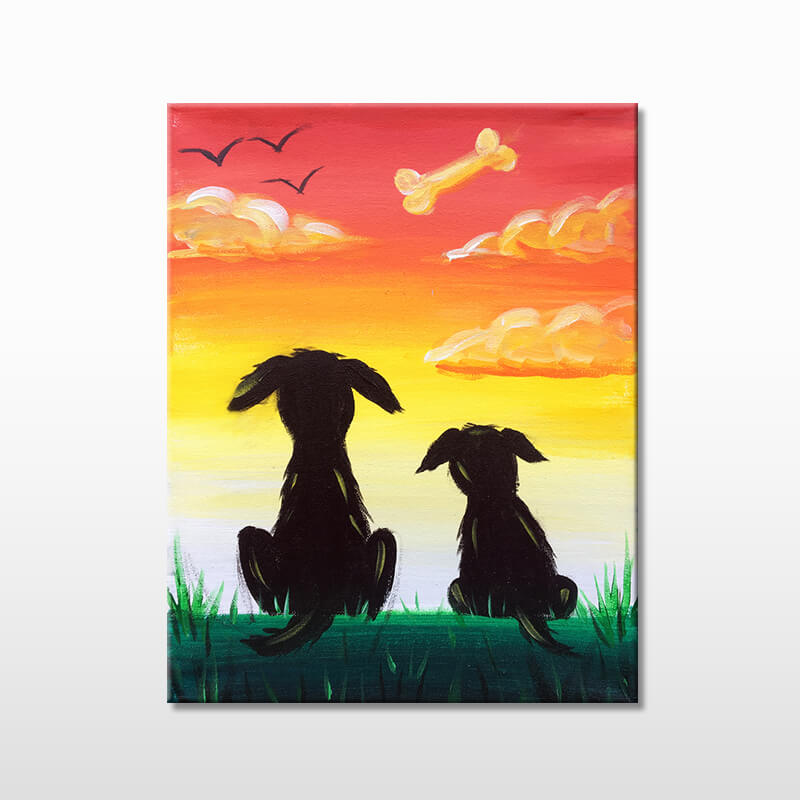 Dogs Day Out All Ages Painting Event