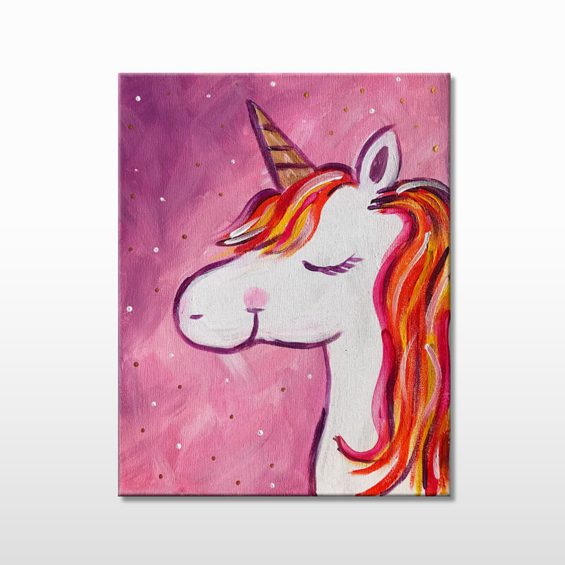 Mystical Unicorn Virtual Painting Class