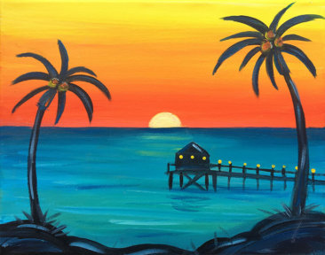 Beach Pier Kids Painting Party