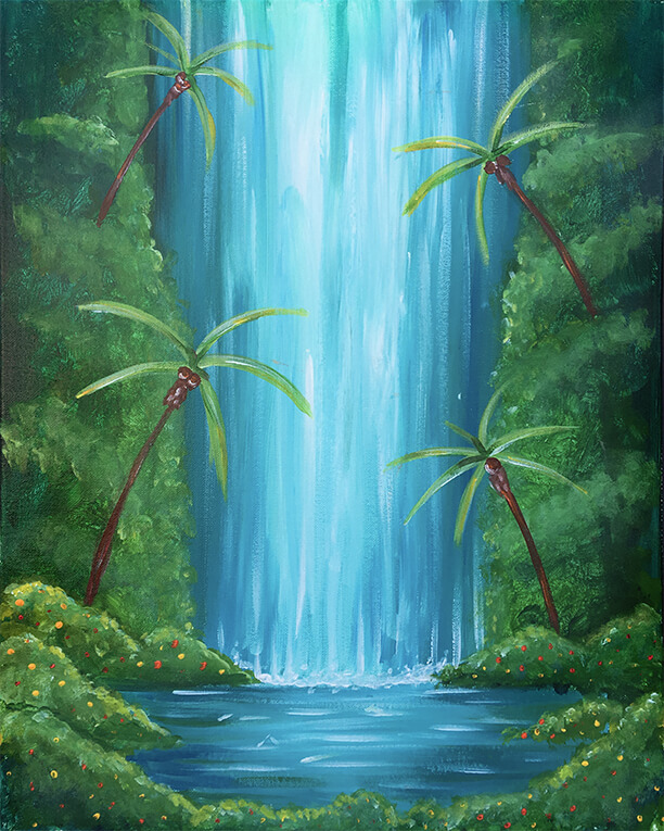 Jungle Falls Painting Party
