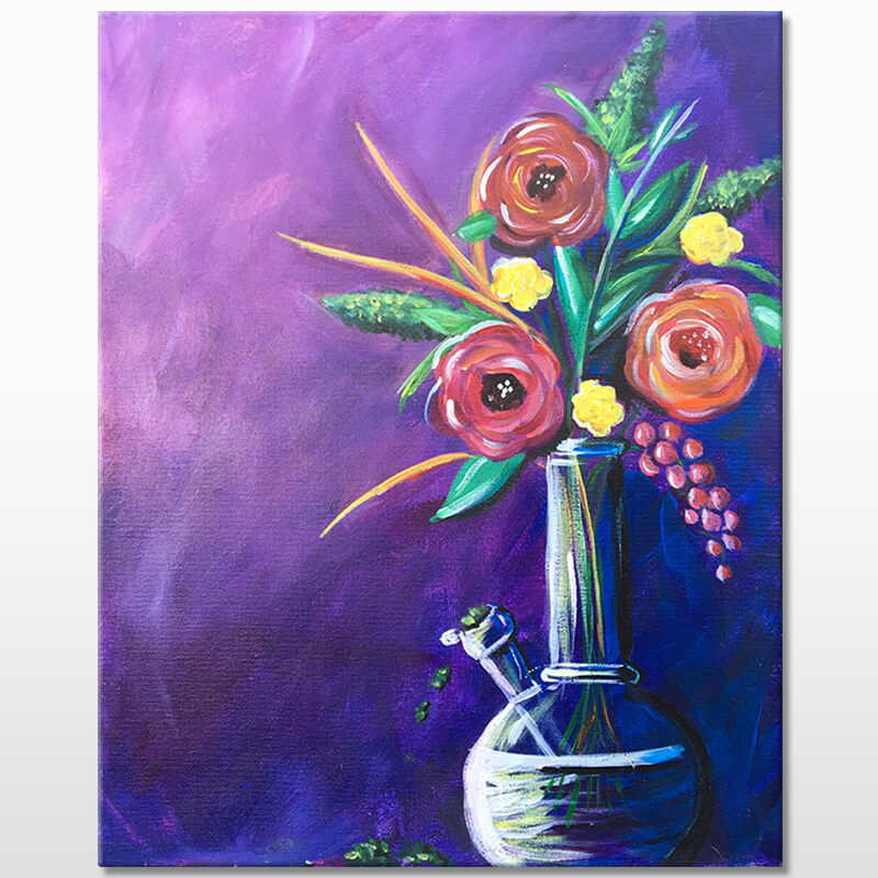 Mary Janes Vase Valentines Paint & Puff