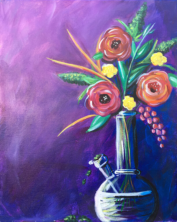 Mary Janes Vase 420 Painting Party