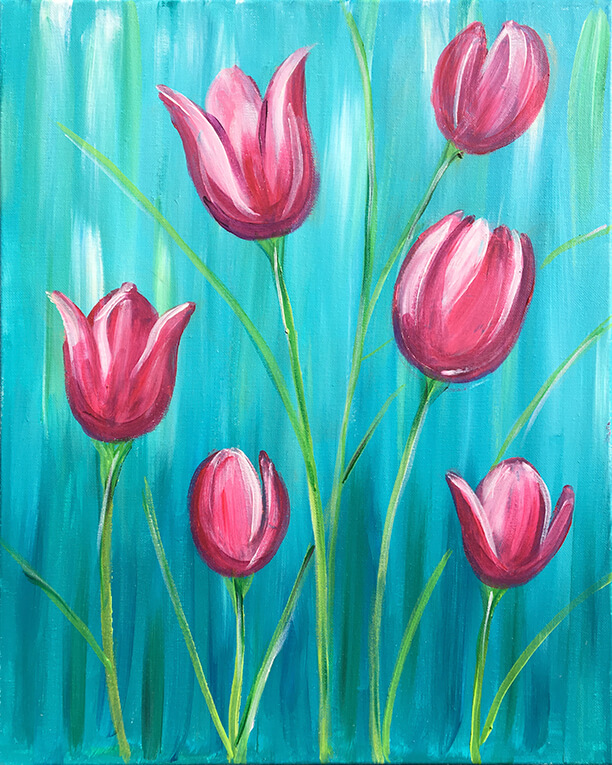 Tulip Painting Party