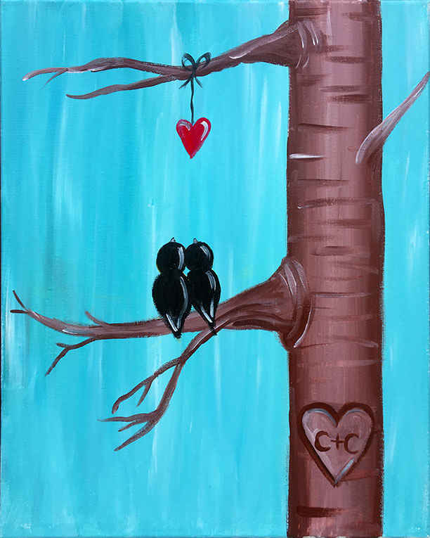 Tree of Love Painting Party