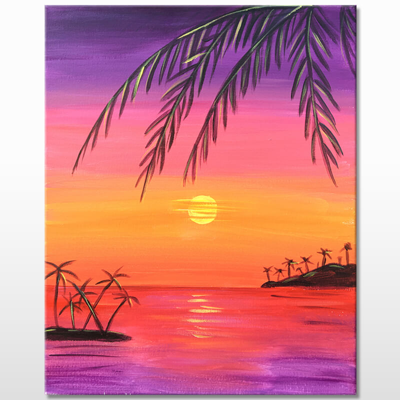 Tropical Sunset Virtual Painting Event