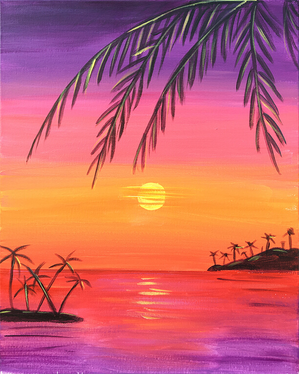 Tropical Sunset Painting Party