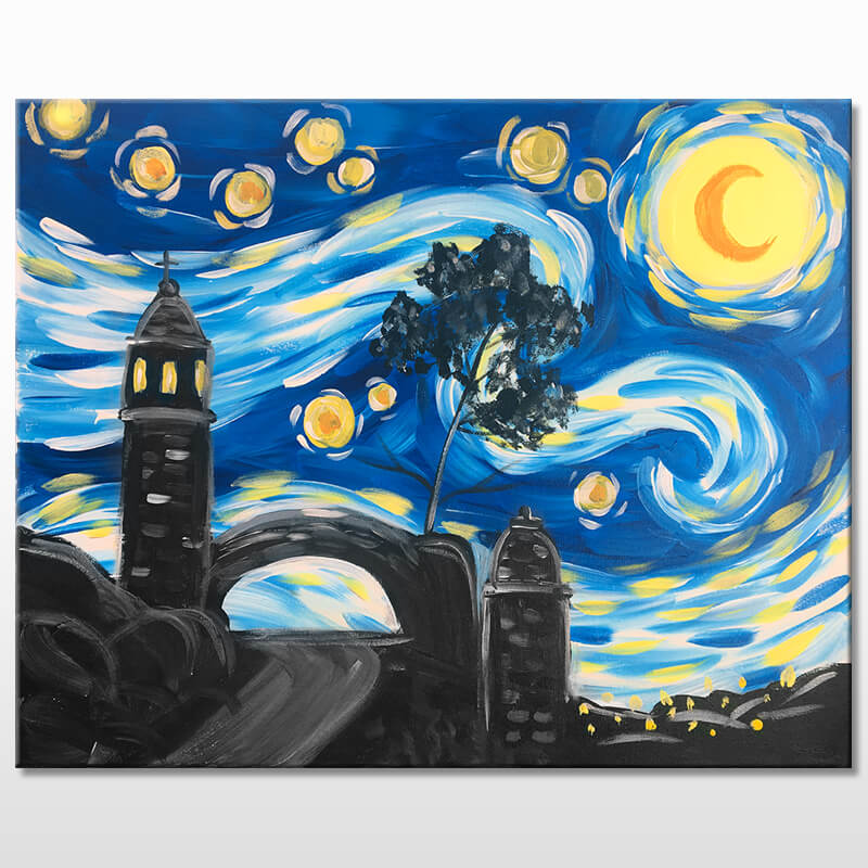 Mt. Rubidoux Night Virtual Painting Event