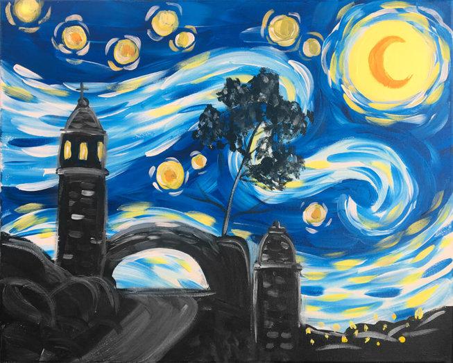 Mt. Rubidoux Night Painting Party