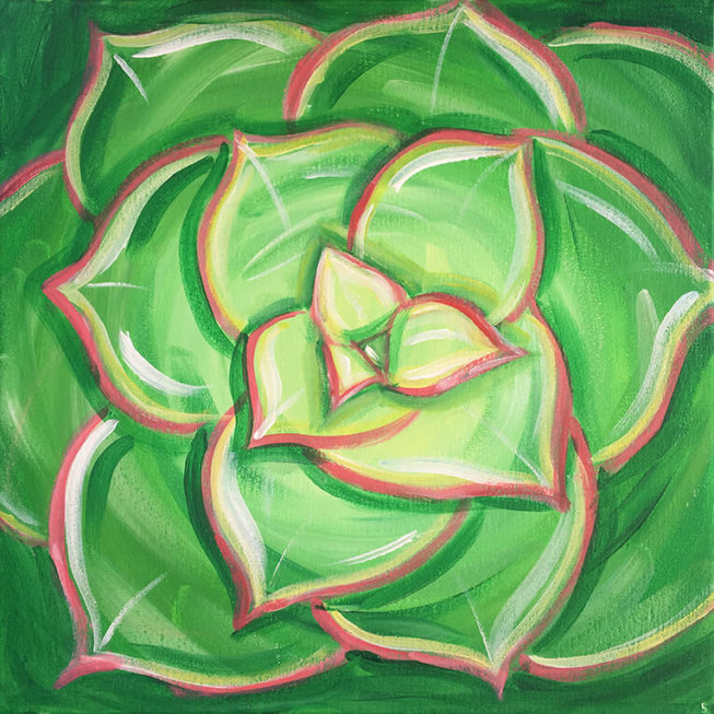 Succulent Sou Acrylic Painting Party