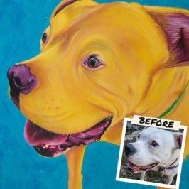 Custom Pet Portraits: Colorful Paintings of Your Pets