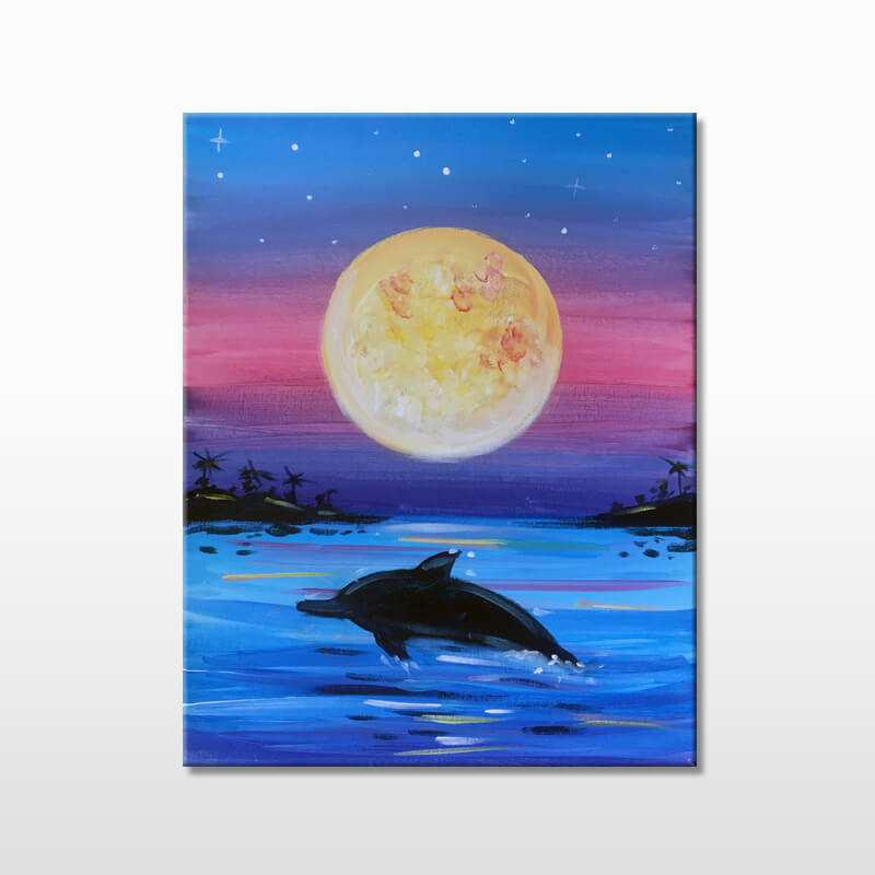 Dolphin Bay Painting Party Event