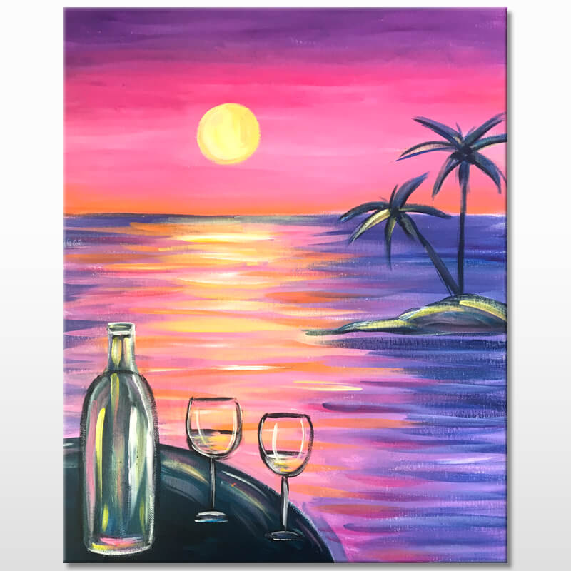 Happy Hour Sunset Painting