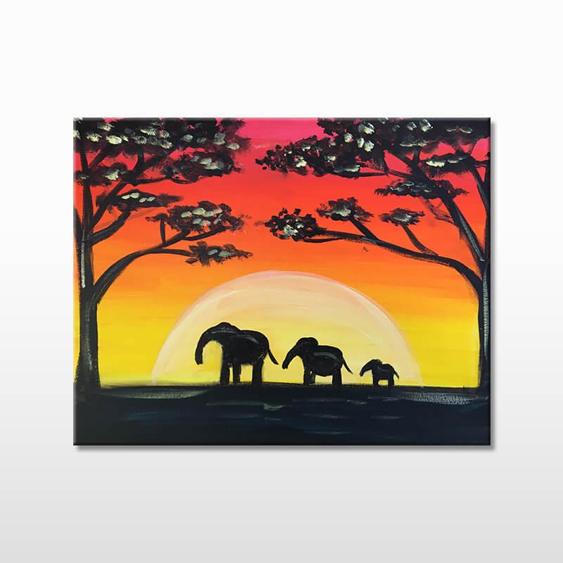 Safari Sunset Online Painting Event
