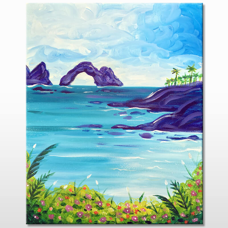 Tropical Cove Online Painting Class