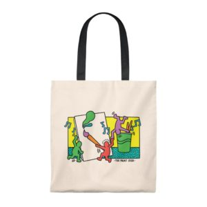 Keith Haring Inspired Paint Sesh Tote Bag – Vintage