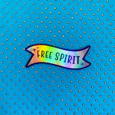 Free Spirit Holographic Sticker