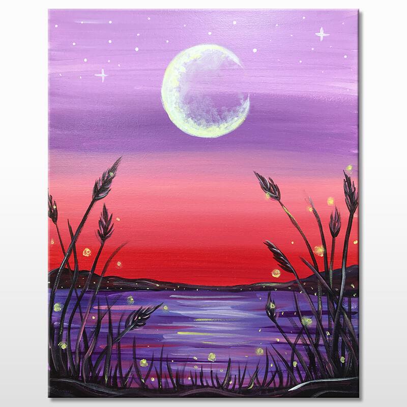 Firefly Lake Acrylic Painting Class