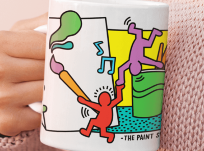 Keith Haring Inspired Paint and Sip Mug