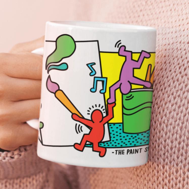 Keith Haring Inspired Paint and Sip Mug