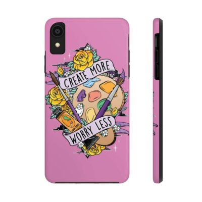Create More Worry Less Tough Phone Case (Case Mate )