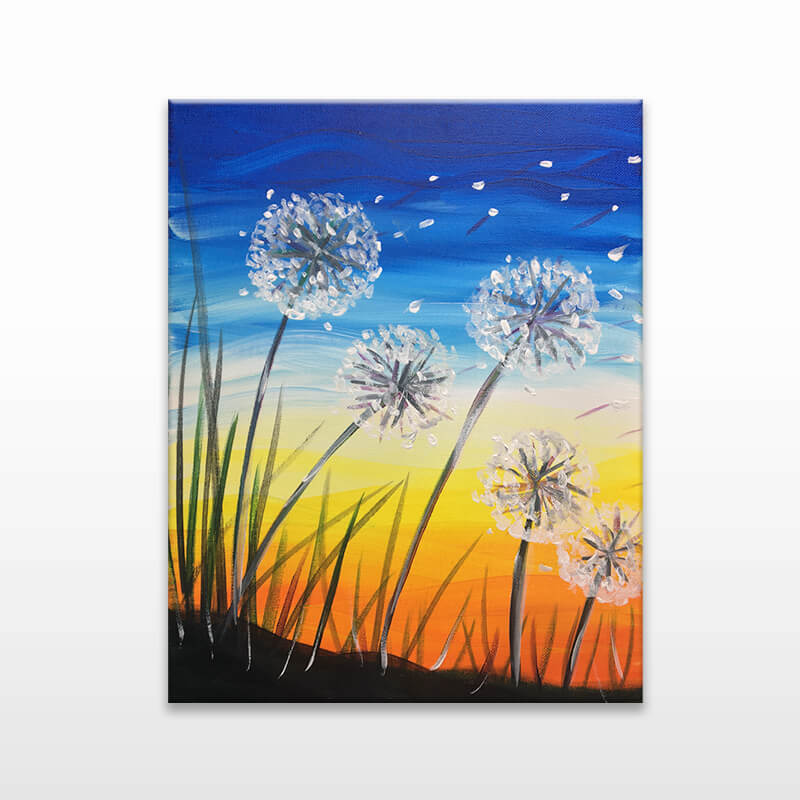 Dandelion Painting Class
